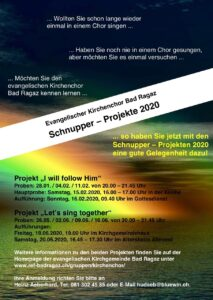 I WILL FOLLOW HIM – Kirchenchorprojekt